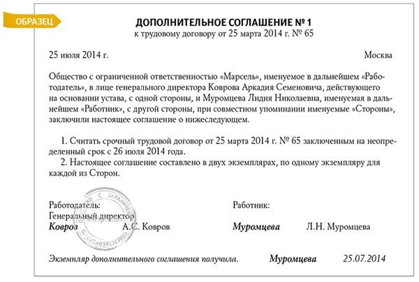 Бессрочный трудовой договор: что это такое по ТК РФ